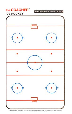 C-600 Ice Hockey Framed Magnetic Board